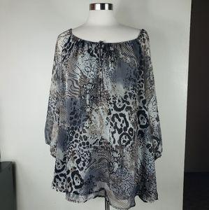 NWT FRED DAVIS blouse size 2x